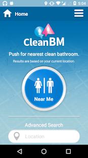 CleanBM Apps On Google Play - Where's the nearest bathroom
