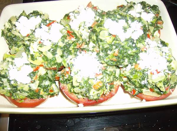 Rose Mary's Stuffed Spinach Tomato Cups With Feta Recipe