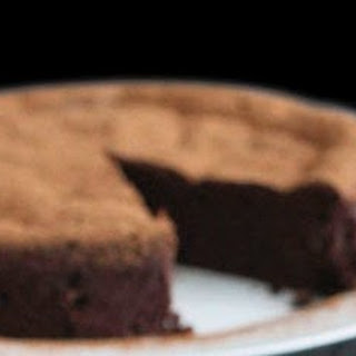 Four Ingredient Chocolate Mousse Cake.