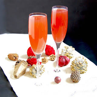 Pomegranate French 75.