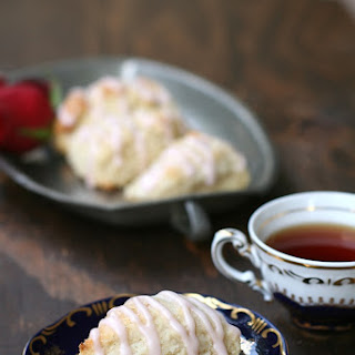 Rose Water Vanilla Tea Scones.