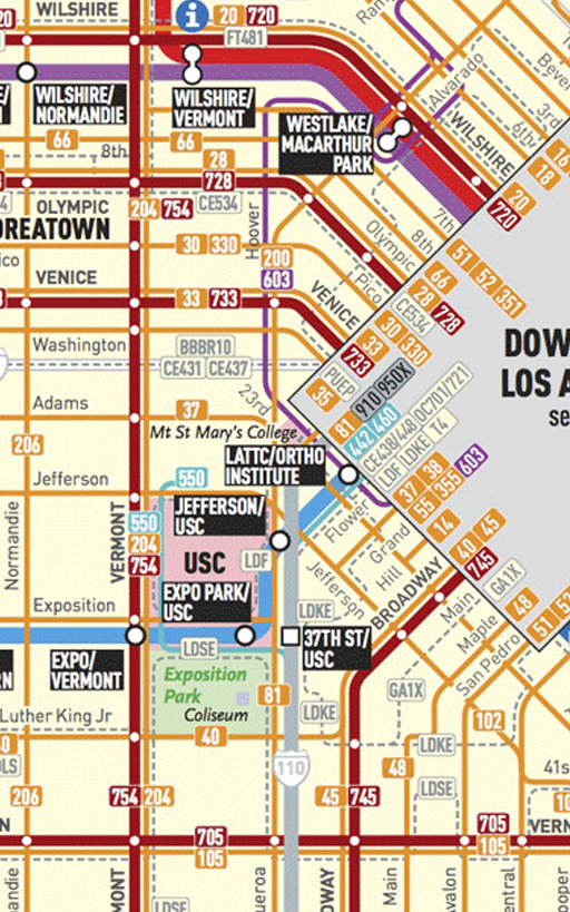 Los Angeles Transport Map- screenshot