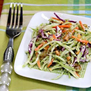 Broccoli Slaw Salad With Honey-mustard Yogurt Dressing.