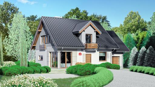 projekt Dom przy Wiosennej 2