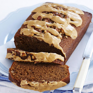 Walnut Bread with Coffee Icing.