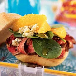 Beef, Orange, and Gorgonzola Sandwiches