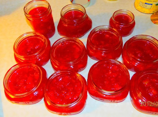 Here is my recipe for the Rhubarb Freezer Jam that I used. It's super...