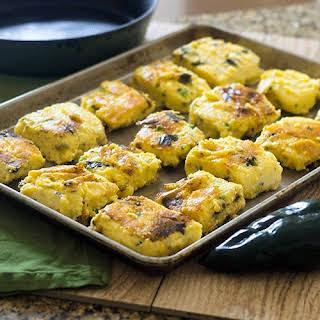 Cheesy Poblano Polenta Bake.
