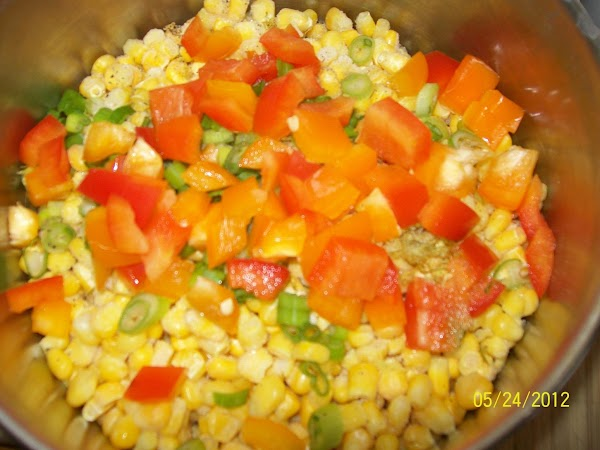 Do not over cook the corn, you'll want to keep the peppers tender crisp.