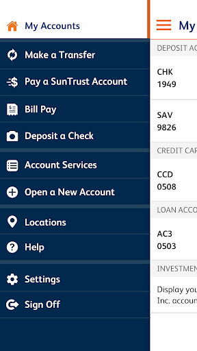 SunTrust Mobile App Screenshot
