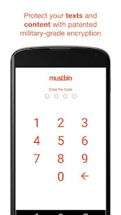 Mustbin – Your Mobile Vault- screenshot thumbnail