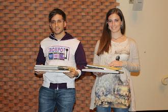 """Photo: Piccolo Agone Placidiano 2015: Vincitori per il Liceo """"Bocchi - Galilei di Adria: Giulia Fattorini (3° anno) e Giacomo Franzoso (4° anno)"""