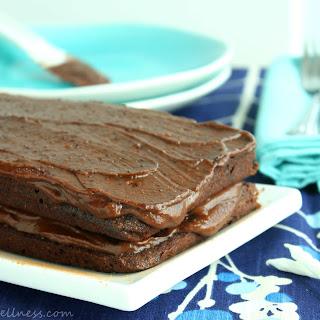 Carob Cake with Fudge Icing (gluten free, paleo, dairy free).