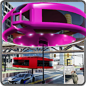 Futuristic Gyroscopic Elevated Transport: Bus Sim