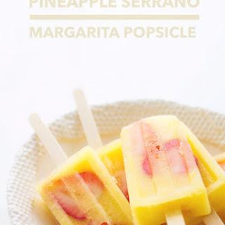 Pineapple Serrano Margarita Popsicles