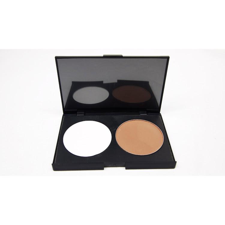 Color Highlight & Contour Bronzer Compact Face Powder Palette by Supermodels Secrets