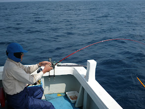 Photo: 連チャンで真鯛キャッチ!」
