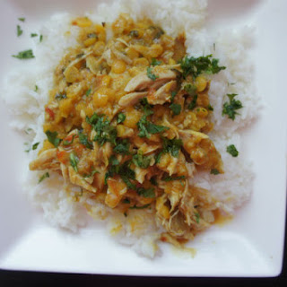 Curry Coconut Chicken with Split Peas