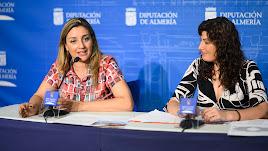 Ma ría del Mar López y Sonia Guil, en la presentación de la Jornada.
