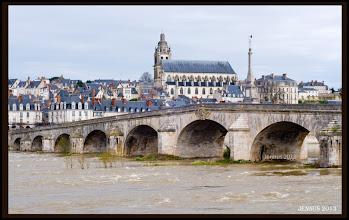 Photo: Bridge over the Loire in Blois (central France)