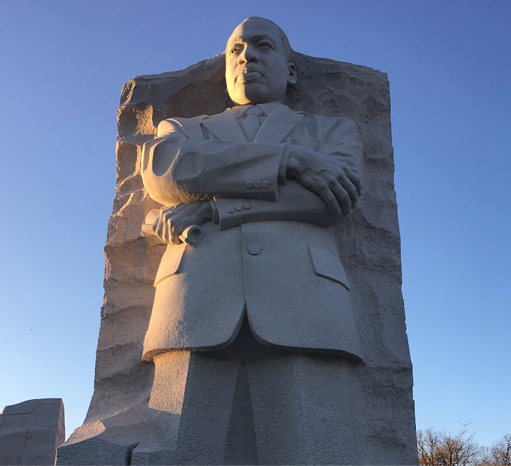 """Out of the mountain of despair, a stone of hope."" Martin Luther King Jr. Memorial at sunrise. Photo: Koru World"