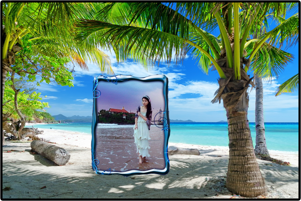 beach photo frame screenshot