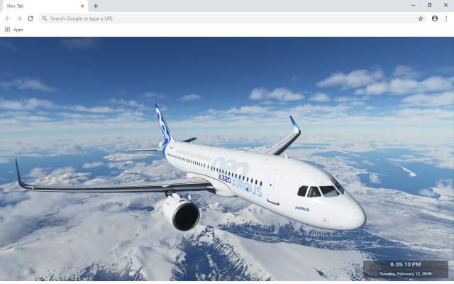 Microsoft Flight Simulator Custom New Tab
