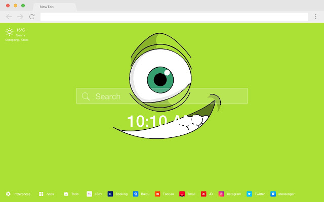 Monsters Inc HD Pop Movies New Tabs Theme