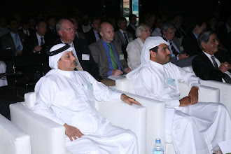 Photo: Front row from left: Najeb khalifa Alsada Assistant Deputy Chief Executive Shipping & Transport Affairs, Qatar Navigation, Qatar; HE Sheikh Khalid Bin Khalifa Al-Thani, Director Ras Laffan Industrial City