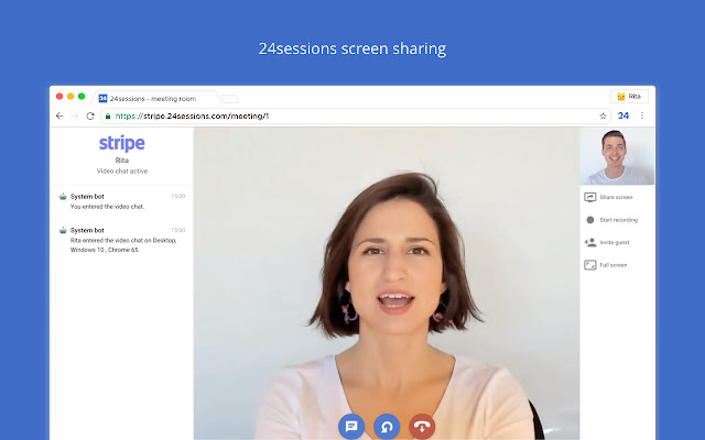 Secure screen sharing