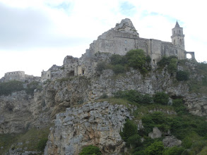 Photo: View of Matera from down below