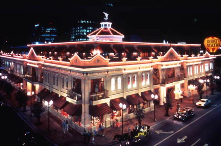 Antiga foto da Church Street Station