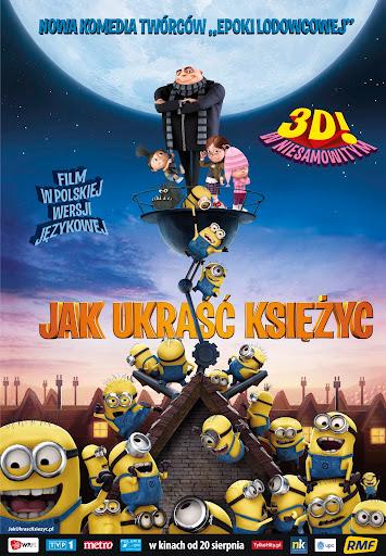 Polski plakat filmu 'Jak Ukraść Księżyc'