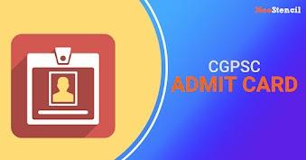 CGPSC Admit Card 2020 (Released) - Download Chhattisgarh PSC Hall Ticket