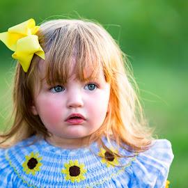 by Sabrina Causey - Babies & Children Child Portraits ( toddler, girl, portrait, blue eyes, child )