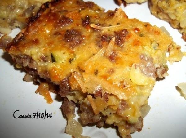 Cheesy Zucchini Sausage & Mushroom Squares Recipe