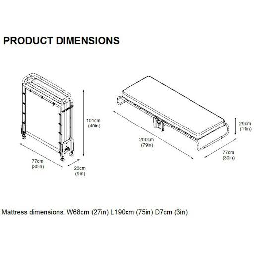 Jay-Be Advance Airflow Fibre Folding Bed Single