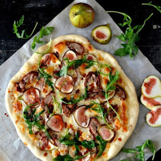 Roast Duck Pizza with Figs and Arugula