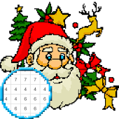 Christmas Color by Number Pixelart Sandbox Color icon