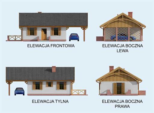 Awinion dom letniskowy szkielet drewniany - Elewacje