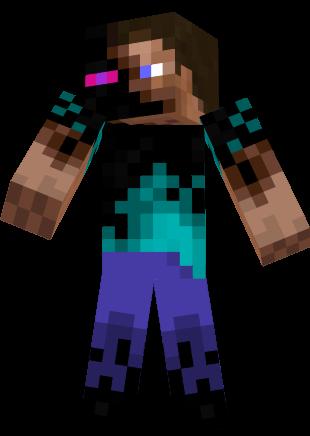 Minecraft Skin Wallpaper Girl Half Ender Steve Nova Skin