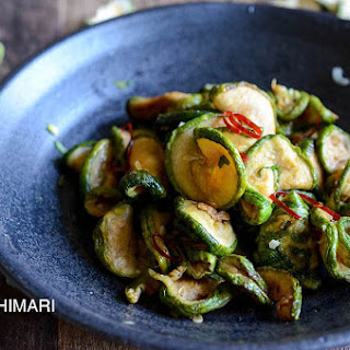 Healthy Dried Zucchini Side Dish-Maleun Hobak Namul.