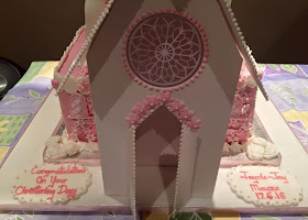 Church christening cake