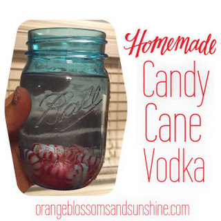 Homemade Candy Cane Vodka