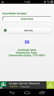 SmartRiderInfo screenshot