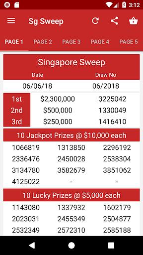 4dCombo SG: Live Singapore 4D Ergebnisse Screenshots 3