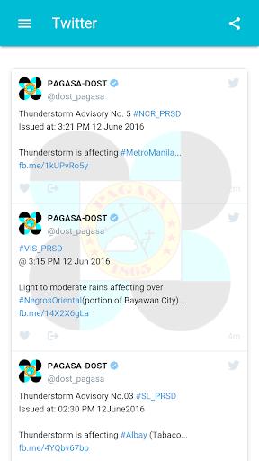 DOST PAGASA Mobile App  screenshots 7