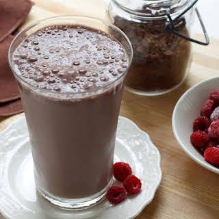 High Protein Chocolate Raspberry Smoothie.
