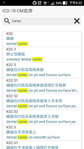 ICD-10-CM 查詢
