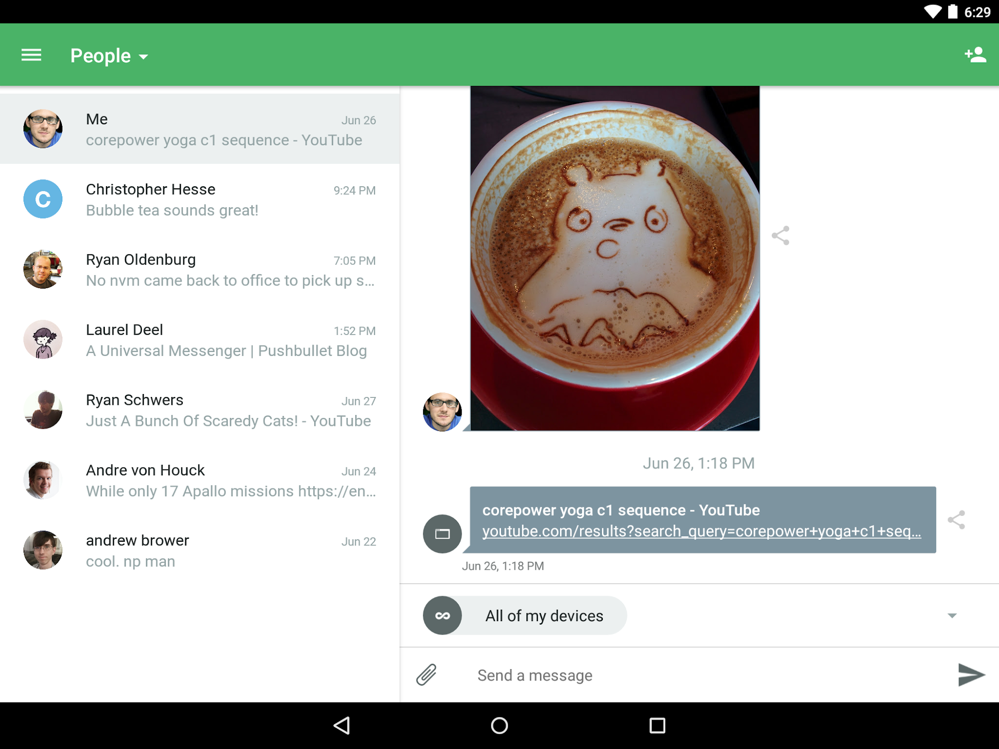 Pushbullet - SMS on PC (Android) reviews at Android Quality